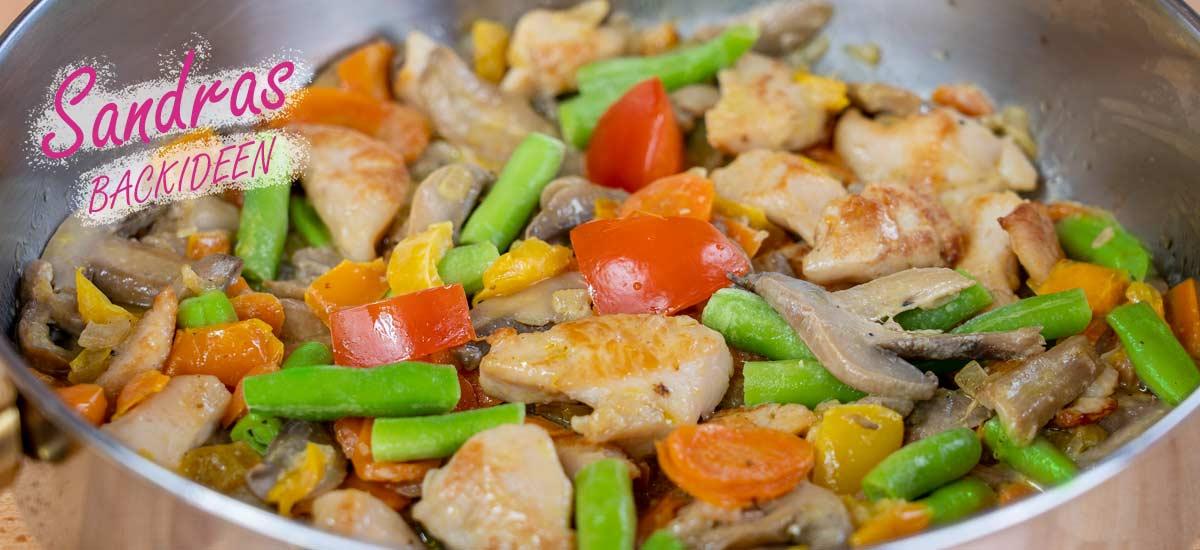 Hähnchen Gemüsepfanne