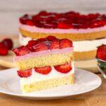 Erdbeertorte mit Quark- und Erdbeercreme